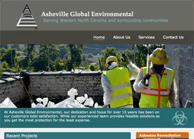 Asheville Global Environmental - Web Design