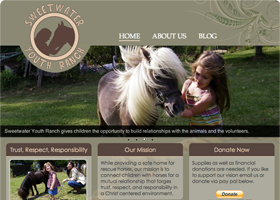 Sweetwater Youth Ranch - Web Design